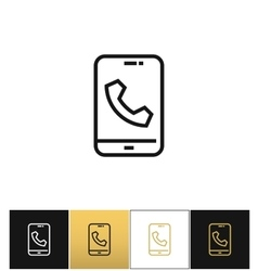 Phone call glyphs or telephone ringtone vector