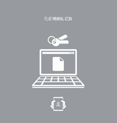 protected file - flat minimal icon vector image