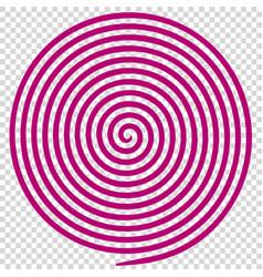 Purple round abstract vortex hypnotic spiral vector