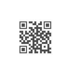 qr code sample icon ready to scan vector image