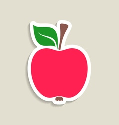 Red apple label vector image