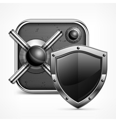 Safe icon shield vector
