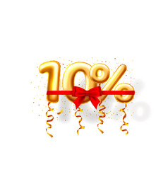 sale 10 off ballon number on white background vector image