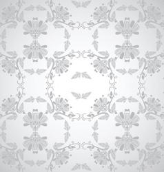 seamless floral design grey vector image