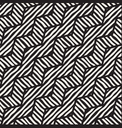 seamless hand drawn pattern zigzag and vector image