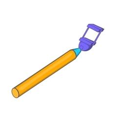 Selfie stick icon cartoon style vector