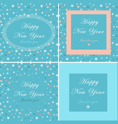 set collection of greeting cards with vector image
