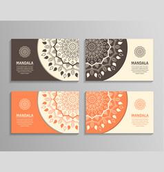 sets of mandala business cards vector image