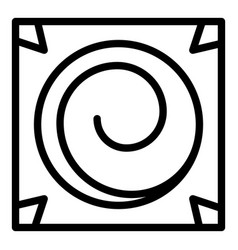 Square hypnosis icon outline style vector
