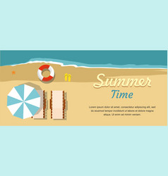 summer vacation and tourism chaise lounge vector image