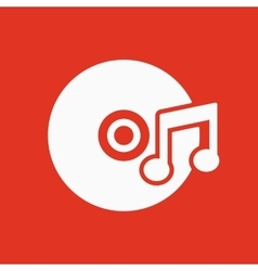 The music icon Disc symbol Flat vector image