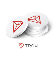 Tron cryptocurrency tokens vector