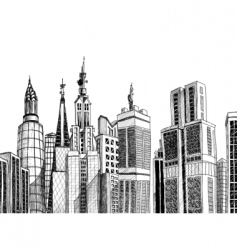 urban architecture vector image