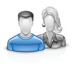 Users icon man woman vector image