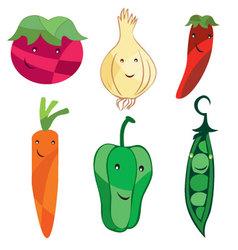 Vegetables-cartoon vector