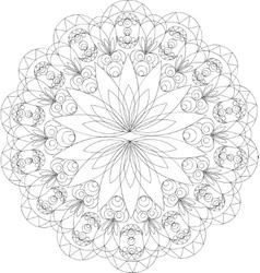 Vintage decorative elements mandala pattern vector image