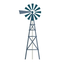 Wind water pump vector