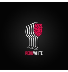 wine glass red and white backgraund vector image