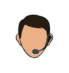 Call center and customer service vector