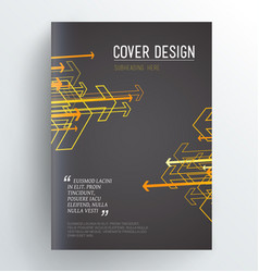 dark book cover design template with arrows vector image vector image