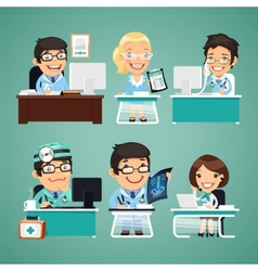 Doctors at the Table vector image vector image