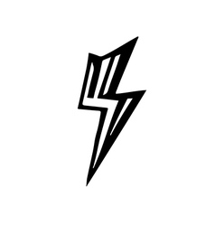 sign of lightning vector image vector image