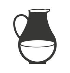 vase of milk isolated icon design vector image