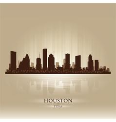 Houston texas skyline city silhouette vector