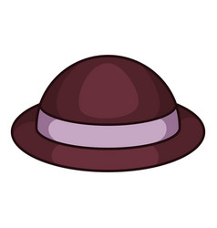 lady hat icon cartoon style vector image