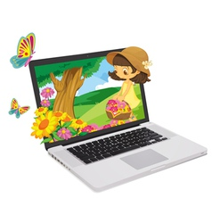 Laptop Display vector image vector image