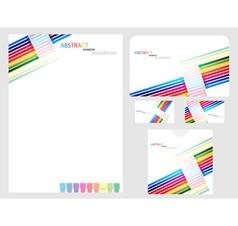 rainbow company identity template vector image