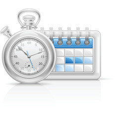 Calendar clock icon vector image vector image