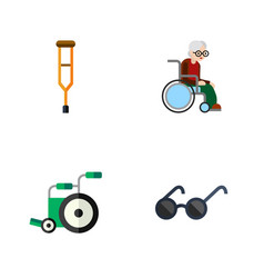 flat icon handicapped set of wheelchair stand vector image