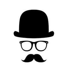 gentleman portrait vector image vector image