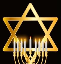 Happy Hanukkah Jewish Background vector image