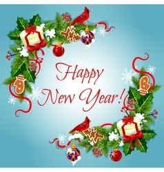 Happy New Year holiday frames vector image vector image