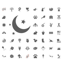 moon and star icon spring vector image
