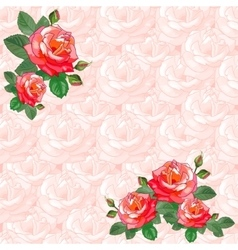 Vintage Greeting Card with Roses vector image vector image