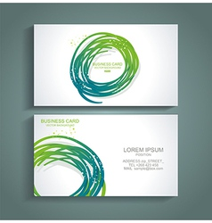 Abstract green colorful business card vector image vector image