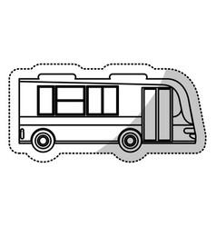 bus transport city outline vector image