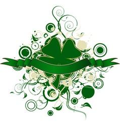 four leaf clover design vector image vector image