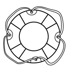monochrome silhouette of flotation hoop with vector image vector image