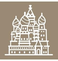 Rusia landmark building line art vector image