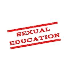 Sexual Education Watermark Stamp vector image vector image