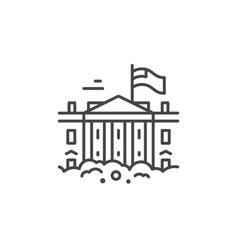 white house line icon vector image