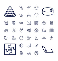 37 leisure icons vector