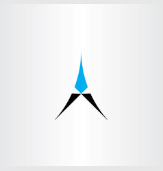 A letter logo cyan black icon symbol element vector
