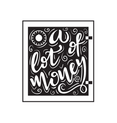 a lot of money vector image