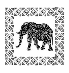 a tribal totem animal vector image