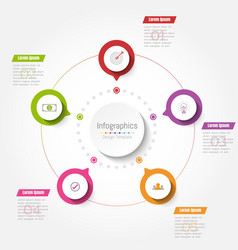 abstract infographics business step options vector image